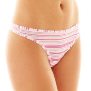 Maidenform One-Size-Fits-Most Microfiber Thong Panties - 40152