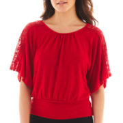 by&by® Crochet Dolman-Sleeve Shirt