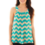 by&by®  Sleeveless Chevron Print Top