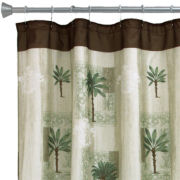 Citrus Palm Bath Shower Curtain