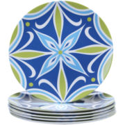 Certified International Mediterranean Melamine Set of 6 Salad Plates