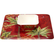 Sunset Palm 2-pc. Chip and Dip Set