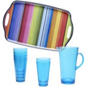 Certified International Serape 8-pc. Acrylic Beverage Set