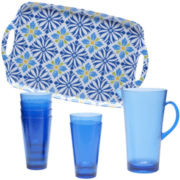 Certified International Mediterranean 8-pc. Acrylic Beverage Set