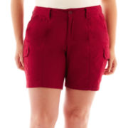 St. John's Bay® Utility Cargo Shorts - Plus