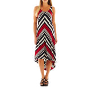 DR Collection Sleeveless Striped High-Low Maxi Dress