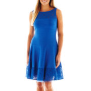 J. Taylor Sleeveless Textured Lace Dress