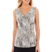 Liz Claiborne Sleeveless Cowlneck Top