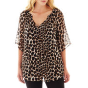 Worthington® 3/4-Sleeve Woven Top w/ Cami