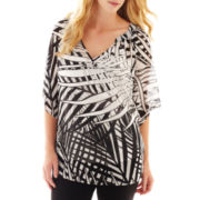 Worthington® 3/4-Sleeve Woven Top w/ Cami