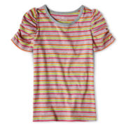 Okie Dokie® Short-Sleeve Ruched Tee - Girls 12m-6y