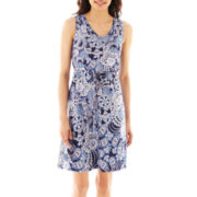 a.n.a® Sleeveless Drawstring Dress - Petite