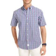 IZOD® Short-Sleeve Multi-Checked Woven Shirt