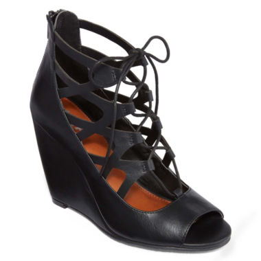 jcpenney.com | Mia® Girl Cachi Lace-Up Wedges