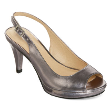 jcpenney.com | CL by Laundry Cary Peep-Toe Slingback Pumps