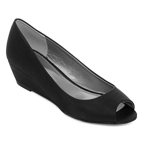 CL by Laundry Hottest Peep-Toe Wedge Pumps