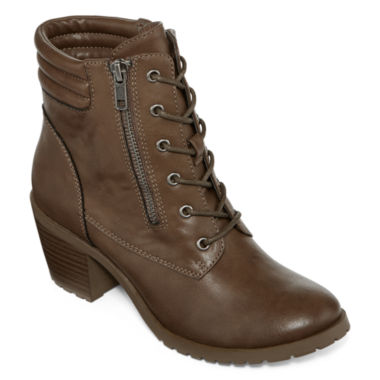 jcpenney.com | Arizona Lawley Lace-Up Booties