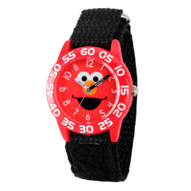 jcpenney.com | Sesame Street Boys Black And Red Elmo Time Teacher Strap Watch W003144