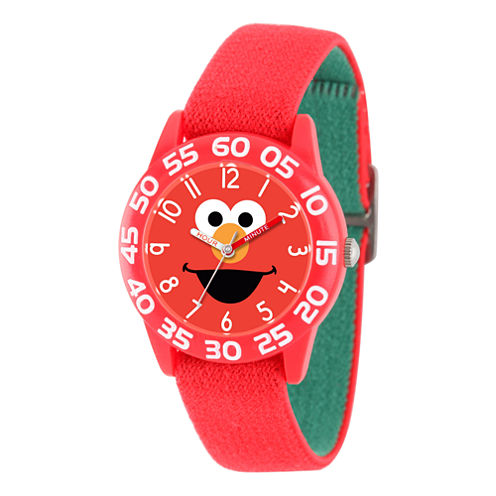 Sesame Street Boys Red Time Teacher Strap Watch W003145