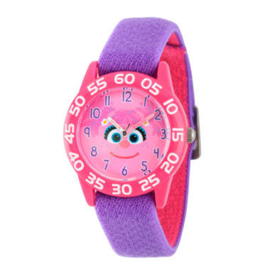 jcpenney.com | Sesame Street Girls Pink And Purple Abby Cadabby Time Teacher Strap Watch W003157