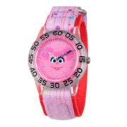 Sesame Street Girls Purple Abby Cadabby Time Teacher Strap Watch W003160