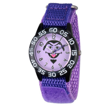 jcpenney.com | Sesame Street Boys Purple And Black Count Von Count Time Teacher Strap Watch W003162