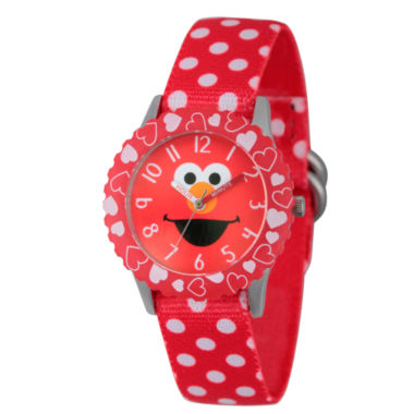 jcpenney.com | Sesame Street Red Polka Dot Elmo Time Teacher Strap Watch W003163
