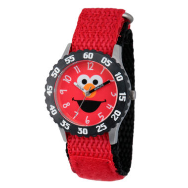 jcpenney.com | Sesame Street Red And Black Elmo Time Teacher Strap Watch W003164