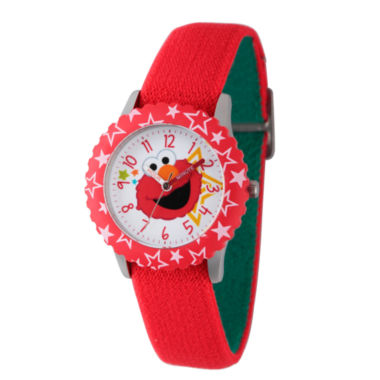 jcpenney.com | Sesame Street Red Elmo Face Time Teacher Strap Watch W003173