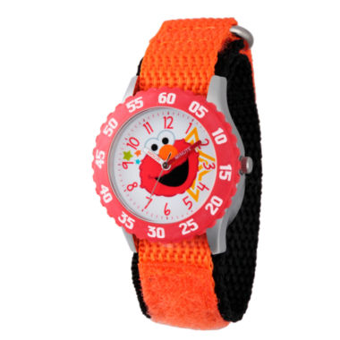 jcpenney.com | Sesame Street Orange And White Elmo Time Teacher Strap Watch  W003174