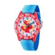 Sesame Street Blue And Red Elmo Time Teacher Strap Watch W003200