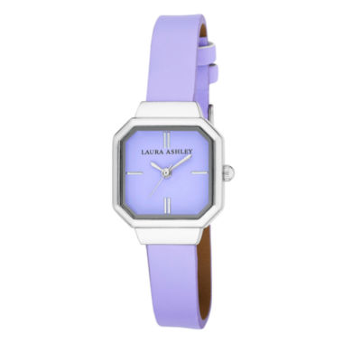 jcpenney.com | Laura Ashley Womens Purple Petite Case With Matching Colored Sunray Dial Watch La31004Pu