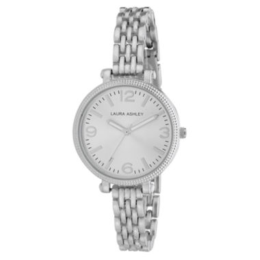 jcpenney.com | Laura Ashley Ladies Silver Link Bracelet Watch La31006Ss
