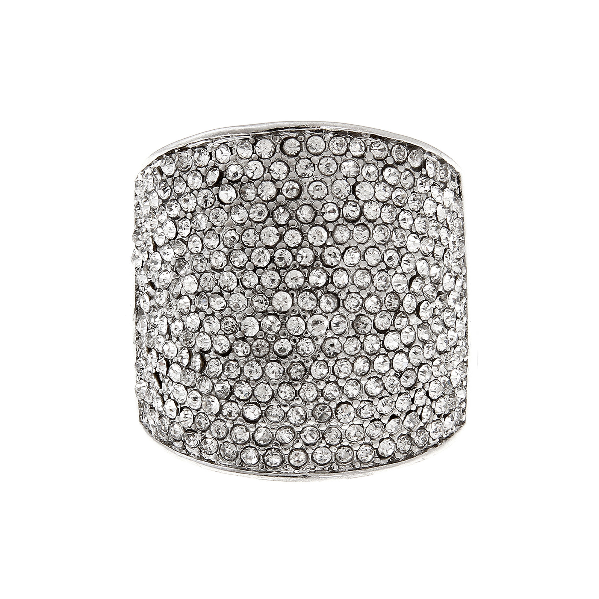 Mixit™ Crystal Silver-Tone Stretch Ring