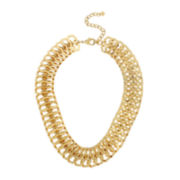 Worthington® Double Hoop Gold-Tone Necklace