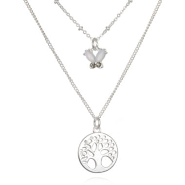 jcpenney.com | Mixit™ Silver-Tone Delicates 3-Row Tree of Life Necklace