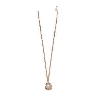 jcpenney.com | Mixit™ Gold-Tone Cage Pendant Necklace