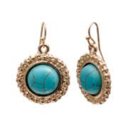 Mixit™ Gold-Tone Acrylic Drop Earrings