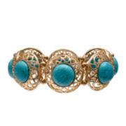 Mixit™ Gold-Tone Acrylic Cutout Stretch Bracelet