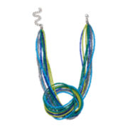 Mixit™ Silver-Tone Seed Bead Multi-Strand Necklace