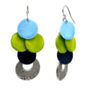 Mixit™ Silver-Tone Shell Drop Earrings