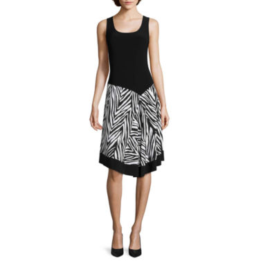 jcpenney.com | MSK Sleeveless Printed Fit-and-Flare Dress