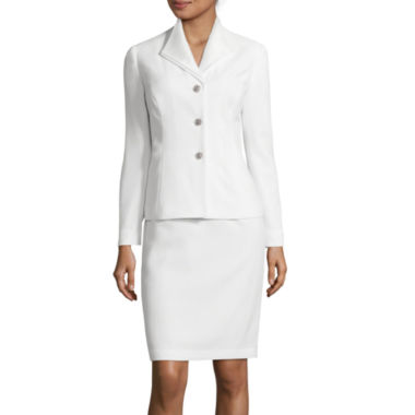 jcpenney.com | Isabella Long-Sleeve Three-Button Jacket with Skirt Suit