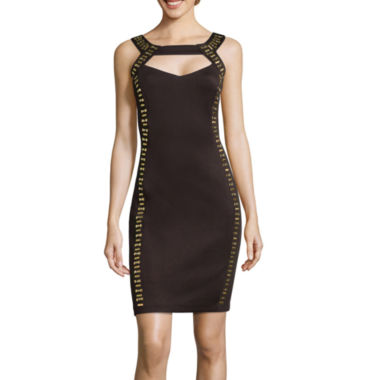 jcpenney.com | Melrose Sleeveless Studded Sheath Dress with Cutout