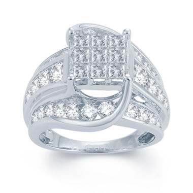jcpenney.com | 3 CT. T.W. Diamond 14K White Gold Engagement Ring