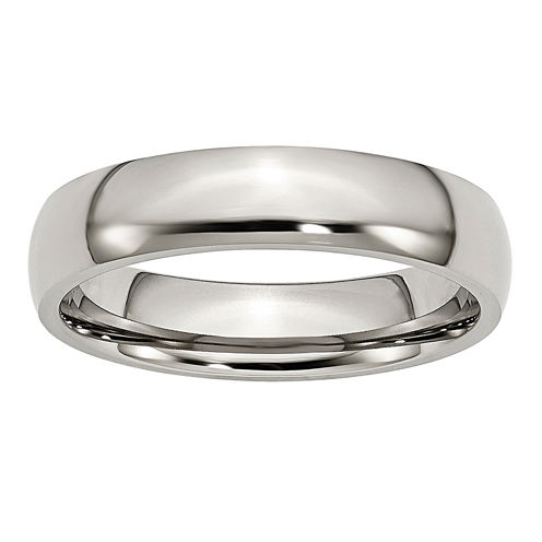 Mens 5mm Stainless Steel Wedding Band