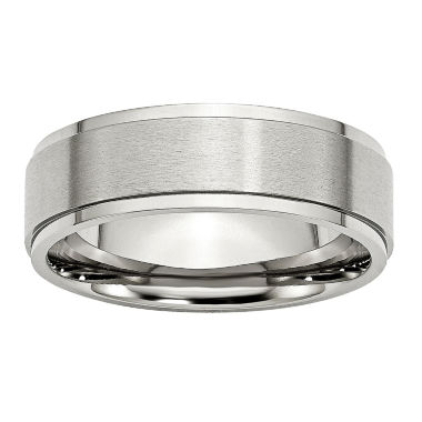 jcpenney.com | Mens 7mm Stainless Steel Wedding Band