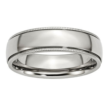 jcpenney.com | Mens 6Mm Stainless Steel Wedding Band