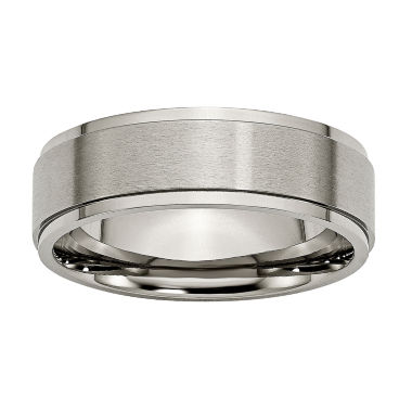 jcpenney.com | Mens 7mm Titanium Wedding Band