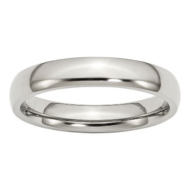 jcpenney.com | Personalized Mens 4mm Stainless Steel Wedding Band